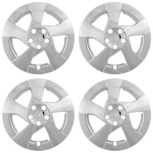 15 Push on Silver Wheel Cover Hubcaps For 2010 2011 Toyota Corolla