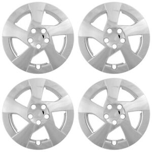 15 Push on Chrome Wheel Cover Hubcaps For 2010 2011 Toyota Corolla Le