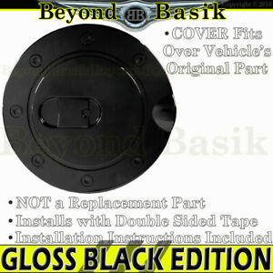 1994 1999 2000 2001 2002 2003 Chevy S10 Gloss Black Fuel Gas Door Cover Overlay