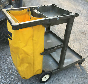 Rubbermaid Janitorial Cleaning Cart Utility Housekeeping Local Pickup Only