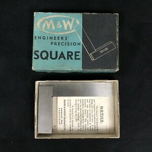Moore Wright No 400 3 Engineers Precision Square Machinist Tool England