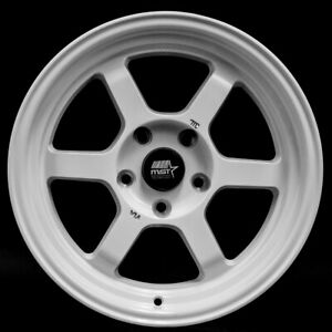 Mst Time Attack 16x8 20 5x114 3 Gloss White set Of 4