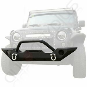 For Jeep Wrangler Jk 2007 2018 Front Bumper Guard Durable Textured Black Offroad
