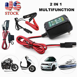 Automatic Battery Charger Maintainer Motorcycle Trickle Float For Tender 12v 6v