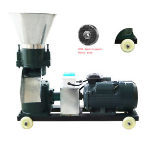 220v Feed Pellet Mill Machine 3mm Hole Size Chicken Sheep Bird Rearing Movable