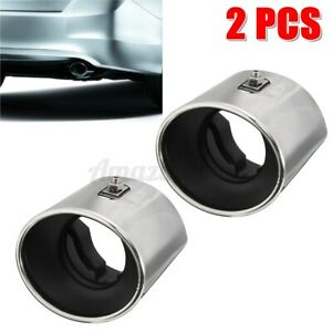 2pcs kit Exhaust Muffler Tail Tip Oval Pipe Chrome For Honda Accord 2008 2012