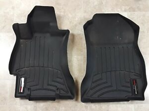 Weathertech Floor Mats Subaru Forester 2014 2018 1st Row Only Used Black