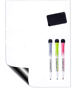 Magnetic Dry Erase White Board Sheet For Refrigerator Small 12x8 Inch Whiteboard