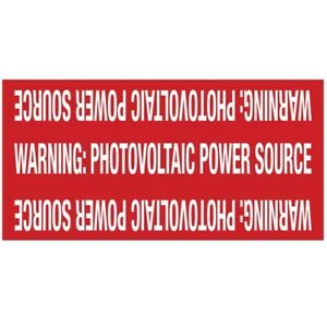 596 00207 Solar Marker 4 X 2 Reflective Photovoltaic Power Source Red