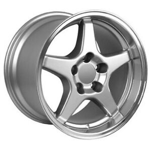 Silver Wheel 17x11 W Machined Lip For 1993 2002 Chevy Camaro Owh0269