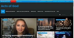 Acts Of God Christianity Blog Website For Sale Affiliate Ad Network Income