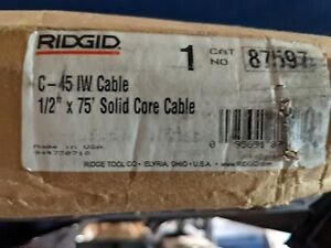 Ridgid C 45 1 2 In X 75 Ft Integral wound Solid core Drain Cleaning Cable