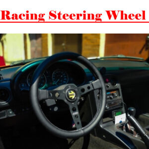 Momo Prototipo Leather Steering Wheel 350mm Black Race Sport Competition Tuning