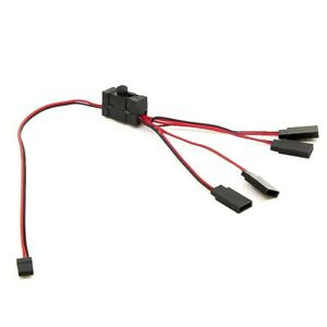 3x 1pcs Rc Servo Extension 1 To 4 Y Wire Cable Led Light Control Power Switch