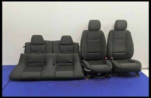 2013 2014 Ford Mustang Gt 5 0 Black Fabric Seat Set
