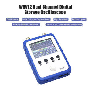 2 Channel Handheld Oscilloscope Wave2 Dds Function Generator 2 4 Touch Screen
