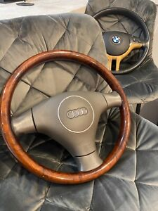Audi A4 A6 A8 S4 S6 S8 90 Wood Steering Wheel