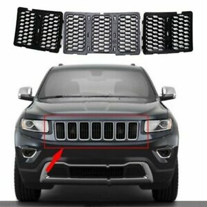 3pcs Front Black Mesh Grille Grill Insert Kit For 2014 16 Jeep Grand Cherokee