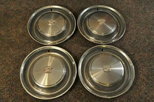 Four 1970 S Cadillac Hubcaps Wheelcovers Oem Deville Fleetwood Seville