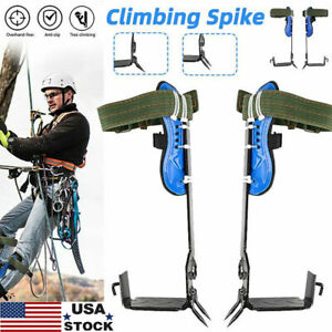 2 Gears Tree Pole Climbing Spike Safety Adjustable Lanyard Rope Rescue Belt Good