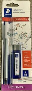 Staedtler Triplus Micro Mechanical Pencil Set Plus Ruler 18 Colored Leads new