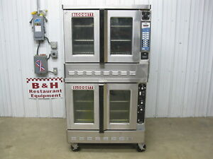 Blodgett Gas Double Stack Convection Oven Dfg 100 3 Top W Vision Fastron Arby s