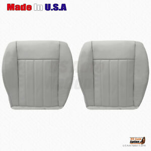 2004 2006 2007 Jeep Liberty Driver And Passenger Bottom Leather Seat Cover Gray