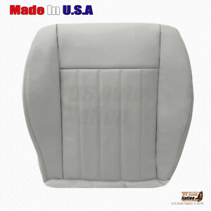 2005 2006 Jeep Liberty Front Driver Bottom Replacement Leather Seat Cover Gray