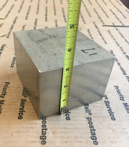Stainless Steel Bar Machining Cube 3 X 4 1 8 X 4 1 2 Solid Block Milling
