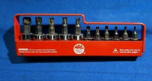 Mac Tools 11pc 3 8 1 4 Drive Torx Socket Driver Set W Tray St11t