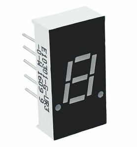 2 X Red 0 30 1 Digit 7 Seven Segment Display Anode Led