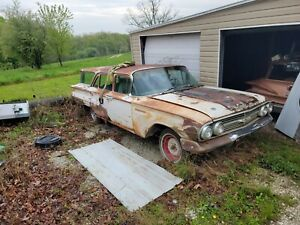 1960 Chevy Wagon Parkwood 348 Car Parts Or Restoration Project No Title