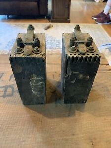 2 Vintage Antique Ford Model T Or Model A Wood Battery Box Ignition Coil