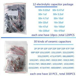 1390pcs Electronic Components Led Diodes Transistor Capacitor Resistance Durable