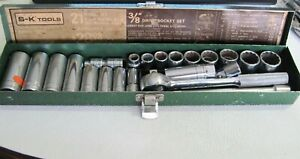 Sk Sk Tools 3 8 Dr Socket Set 45170 Ratchet 6 12 Pt Deep Shallow