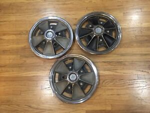 1965 1966 Chevy Chevelle 14 Mag Style Hubcap 551851 Set Of Three