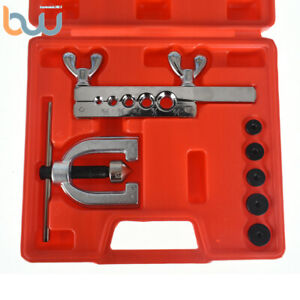 Auto Double Flaring Tool Kit Brake Line And Brass Tubing Tools 45 Degree Flares