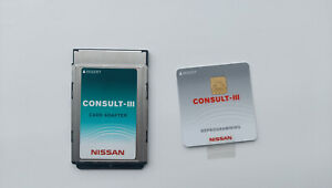 Nissan Consult 3 Plus Reprogramming Card With Pcmcia Adapter Brand New