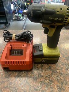 Snap On 3 8 Drive 18v Yellow Cordless Impact Wrench W bat charger Ct8810ahv P2