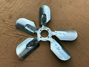1965 1966 Ford 289 390 Engine Fan 18 Stripped And Plated Clean