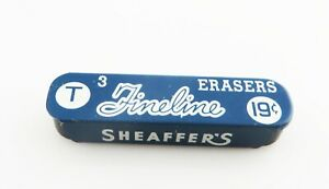 Sheaffer Vintage t Erasers Metal Container Of 2