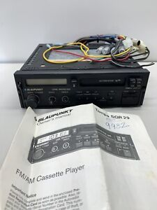 Vintage Blaupunkt Car Stereo Tampa Sqr 29 Pull Out Radio Fm Am Cassette Player