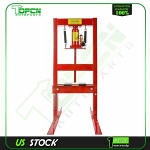 Diy Tools 6 Ton Hydraulic Shop Press Benchtop With Plates H Frame Jack Stand