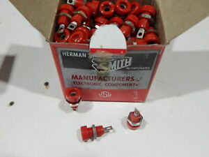 Hh Smith 1509 102 Banana Jack 15a Stud Red Lot Of 50 Pieces Fast Shipping