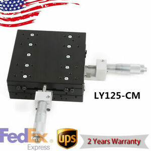Linear Stage 125x125mm Xy axis Trimming Platform Precision Tuning Sliding Table