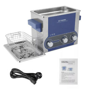 3l Stainless Ultrasonic Cleaner Ultra Sonic Bath Cleaning Tank Timer Heater