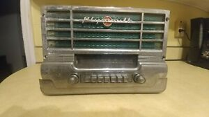 Vintage 1949 1950 Plymouth Mopar 803 Oem Am Tube Radio Built In Speaker Untested