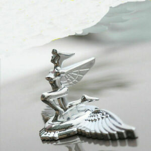 Chrome Metal Nymph Wing Goddess Eagle Car Hood Ornament Emblem Badge Stickers