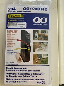 Square D Qo120gfic 20 Amp Ground Fault Circuit Interrupters Single Pole