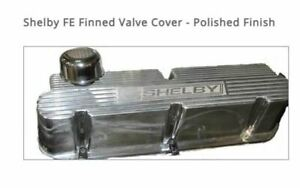 Carroll Shelby Engine Co Polished Finned Valve Covers For Fe Engines 390 427